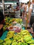 Local papaya, chilies and bananas