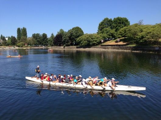 Dragon boats training