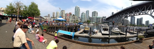 Panorama from Granville Island Markets