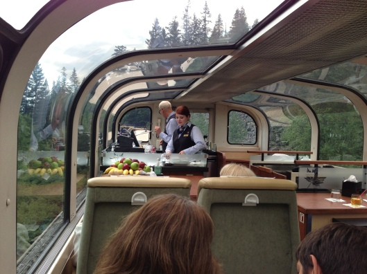 Glass domed carriage on The Rocky Mountaineer