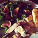 Chicken, Haloumi and fig salad