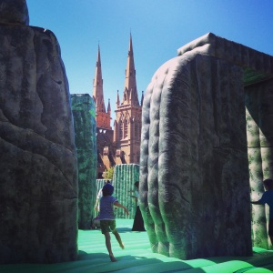Sydney Festival, art installation called 'Sacrilage'