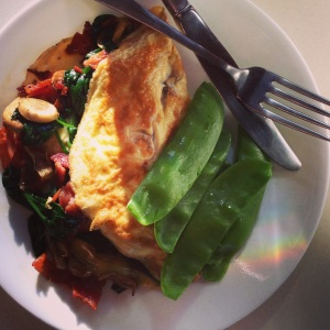 Omelet with rainbow