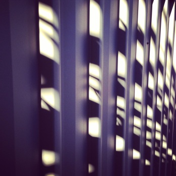 light on the corrugated fence