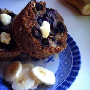 Banana & Blueberry mug muffin