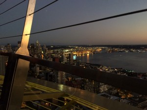 Dusk view from Space Needle, Seattle