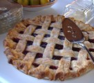 Lattice top Cherry Pie, a specialty