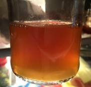 pumpkin liquor, water that cooks out through the skin is sweet
