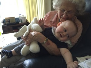 Home again with great grandson