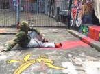 Resting street artist