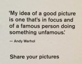 Quote from Warhol