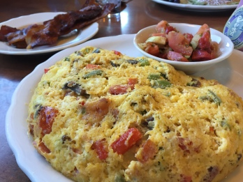 Veggie omelette and bacon at Original Pancake House