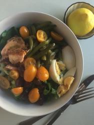Salmon Nicoise style salad