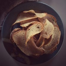 Sourdough spelt bread 'chips'-great for dipping or snacking