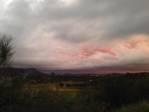 Sunrise before the rain.