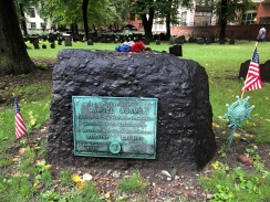 Samuel Adams resting place in downtown Boston, Mass.