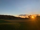 late autumn golden sunset